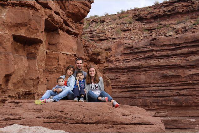Rebecca e famiglia a El Chocon