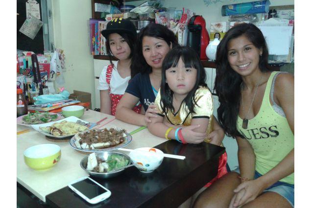 Con la famiglia ospitante
