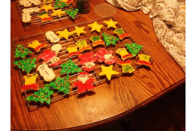 Biscotti di Natale fatti con mia madre, una giornata intera di lavoro!
