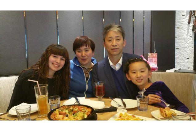 Alessia e la famiglia ospitante