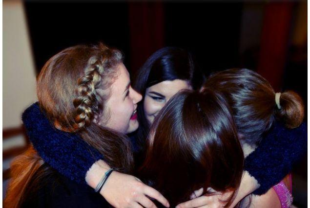 Io e le mie migliori amiche di scuola (Bára, Pája, Zuzka) alla festa dei miei 18 anni