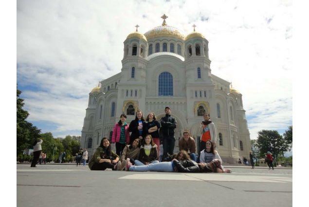 Il gruppo degli studenti stranieri in Russia