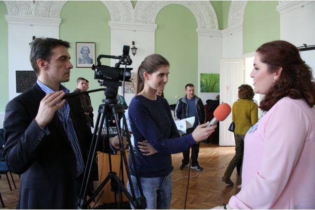 Myriam intervistata alla TV serba