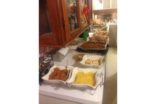Una parte del pranzo del Ringraziamento