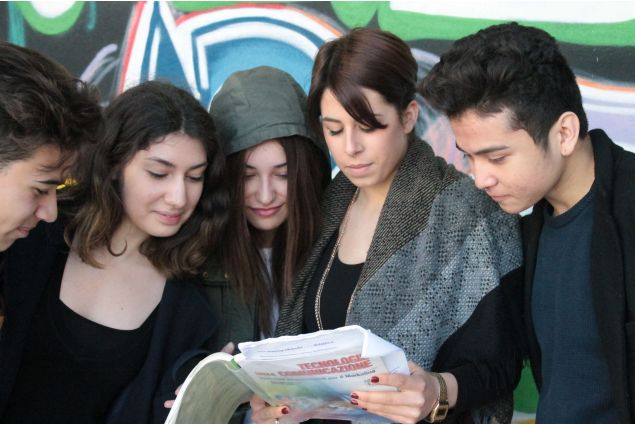 Studenti all'Istituto Olivetti