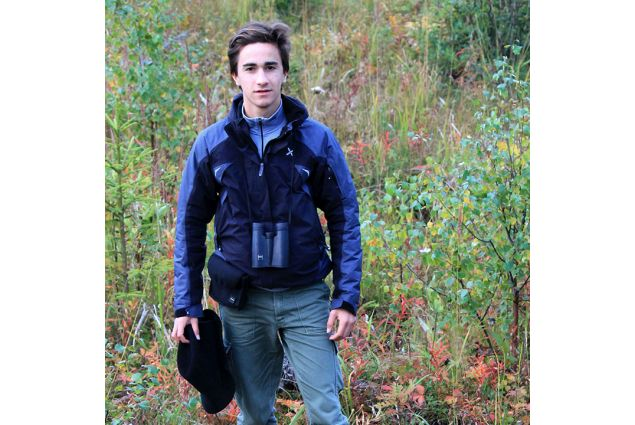 Eugenio immerso in una delle tante foreste della Svezia