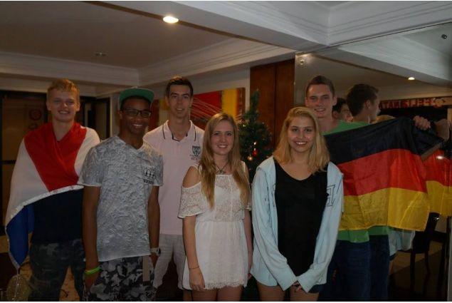 Chiara con gli altri studenti AFS