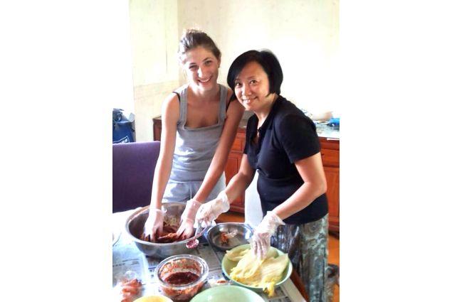 Claudia e mamma in cucina