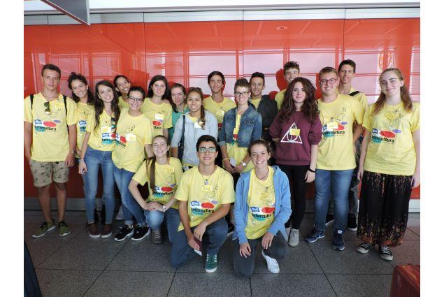 Il giorno della partenza insieme agli altri studenti italiani
