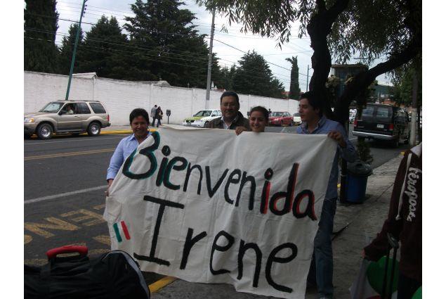 Il benvenuto della famiglia ad Irene