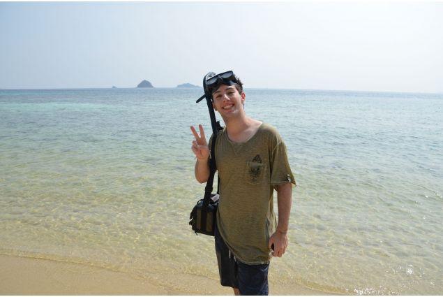 Danilo al mare in Thailandia