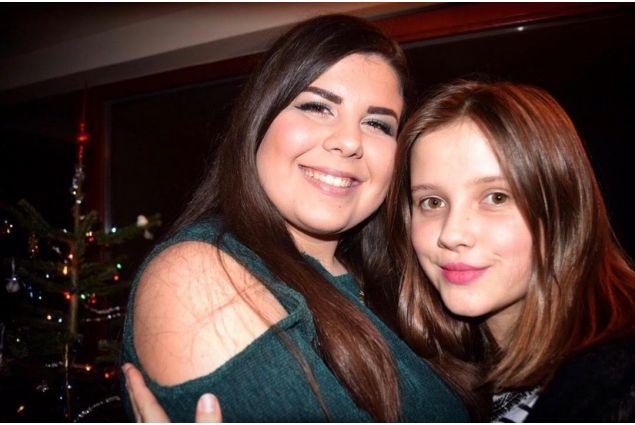 Io e mia sorella a Natale