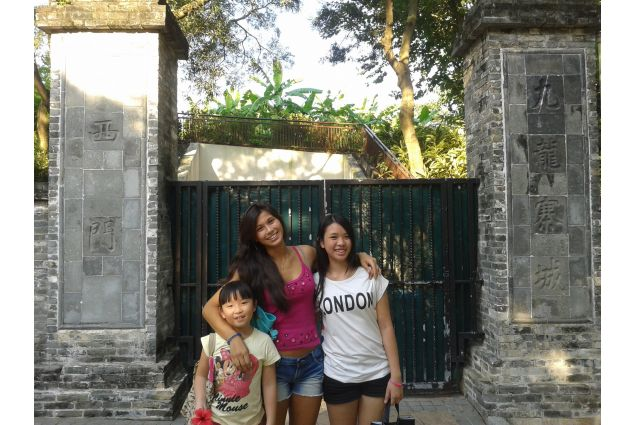 Con le sorelle ospitanti