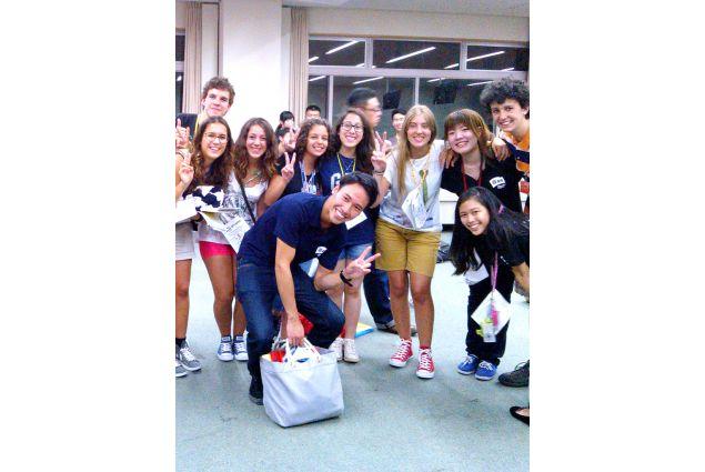 Rachele con gli altri studenti AFS
