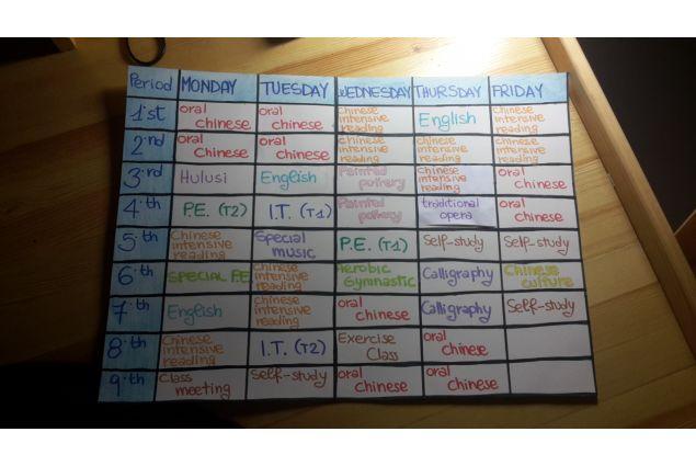 L'orario delle lezioni