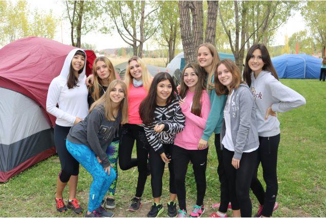 campeggio, ultimo anno della scuola