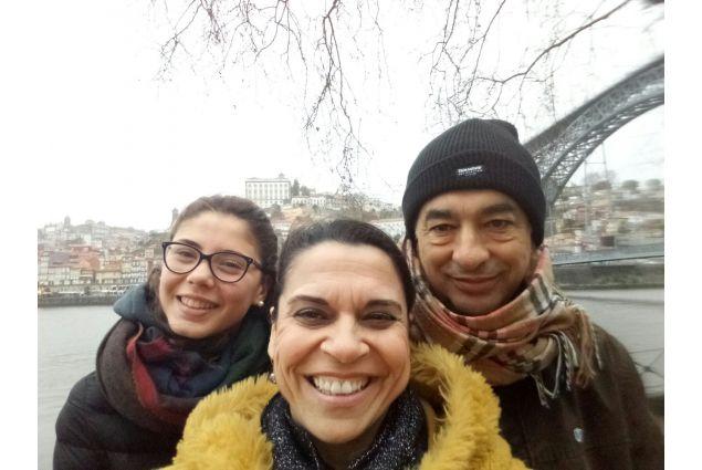 Martina e la sua famiglia ospitante