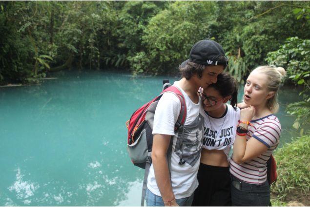 Una escursione al Rio Celeste, con alcuni altri exchange students