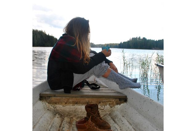 Anna immersa nella natura finlandese