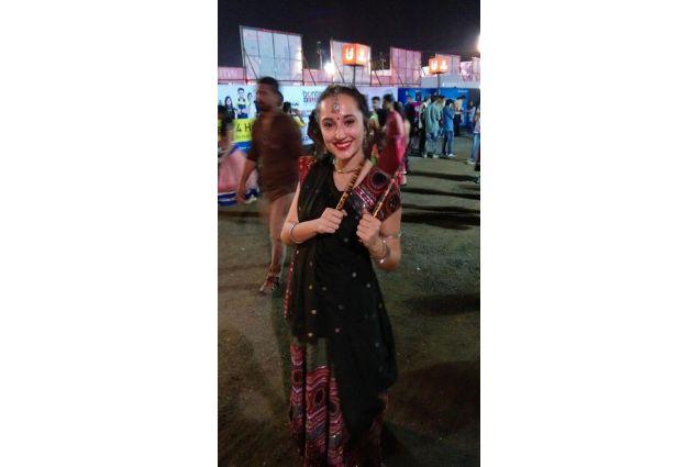 Martina al Festival Navratri nello stato del Gujarat