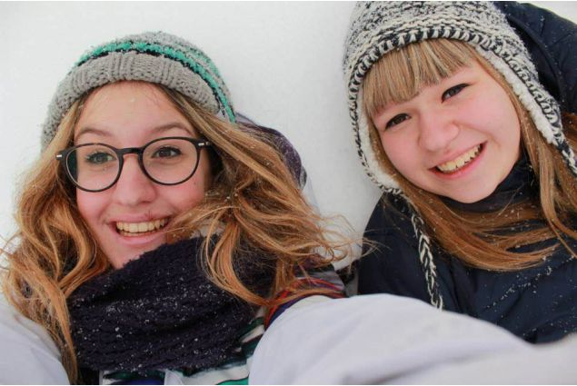 Con la sorella