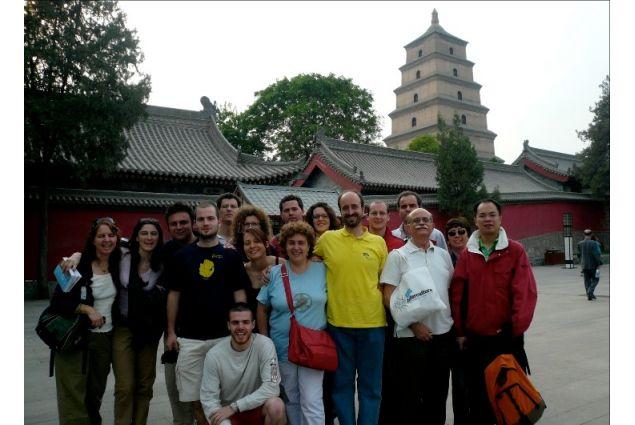 Il programma di scambio in Cina nel 2007. Sulla destra c'è il Segretario Generale di Intercultura, Roberto Ruffino
