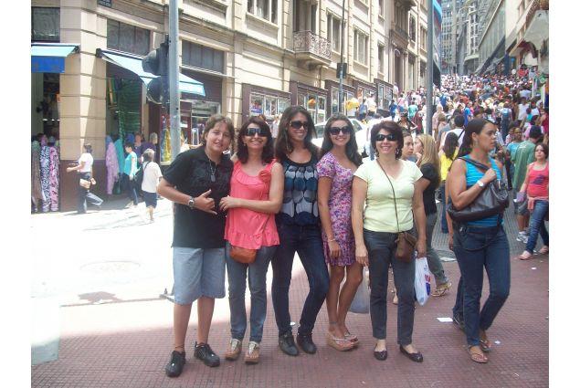 Alessandra con la famiglia ospitante