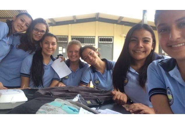 Con i compagni di classe