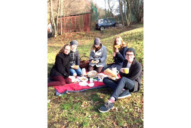 Christian e famiglia, picnic  al parco
