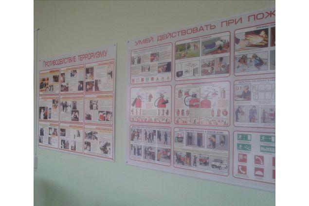 I cartelli nella classe di OBŽ, traducibile in italiano in Fondamenti di sicurezza della vita