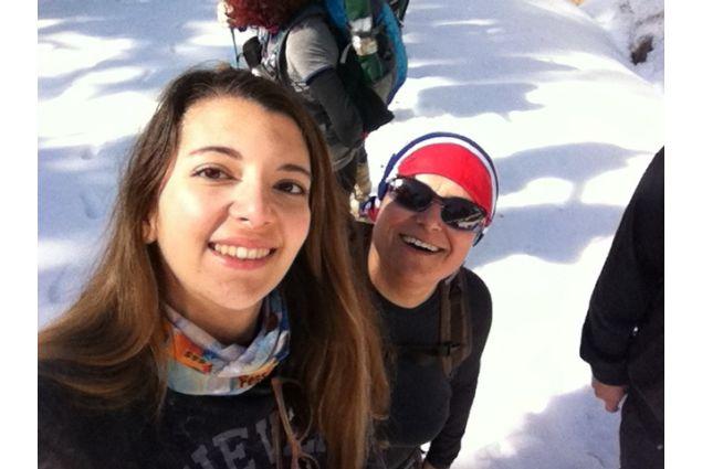 Michela e mamma sulla neve
