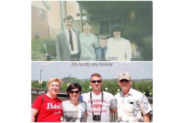 Pasqua 1985 - Pasqua 2011 insieme alla famiglia ospitante