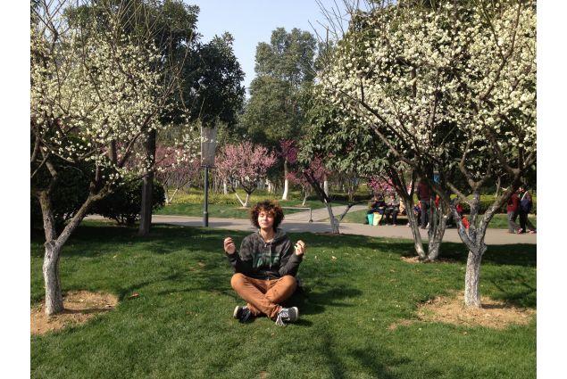 Jacopo in un giardino cinese
