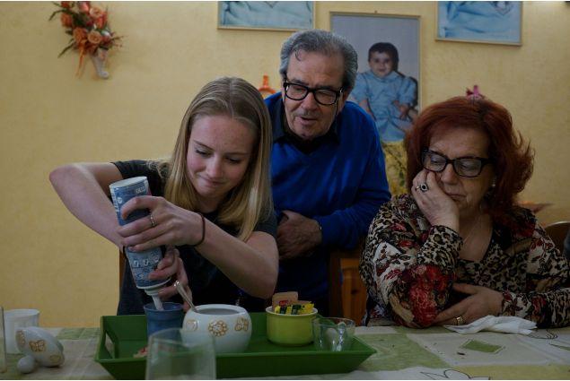 I nonni di Lina e Rosalia