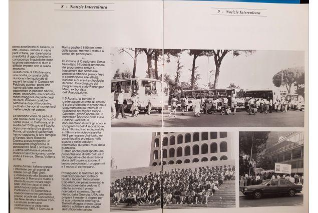 Articolo dell 1984, con la partenza da Roma e la tradizionale foto sui gradini dell'EUR