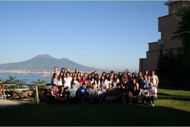 Marianna e Ivano accolgono gli studenti stranieri ospitati a Napoli e nei CL limitrofi nell'anno 2014-15
