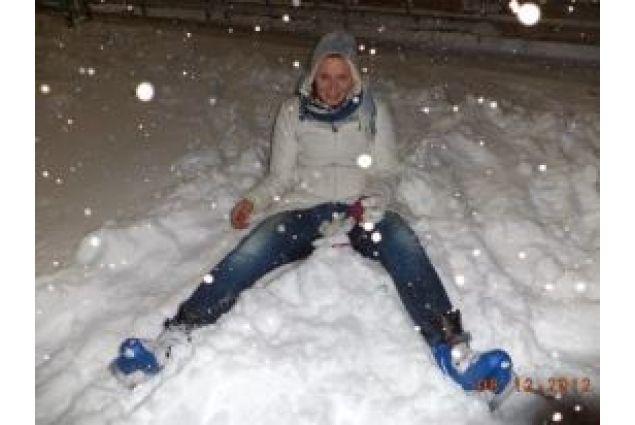 Julia sulla neve