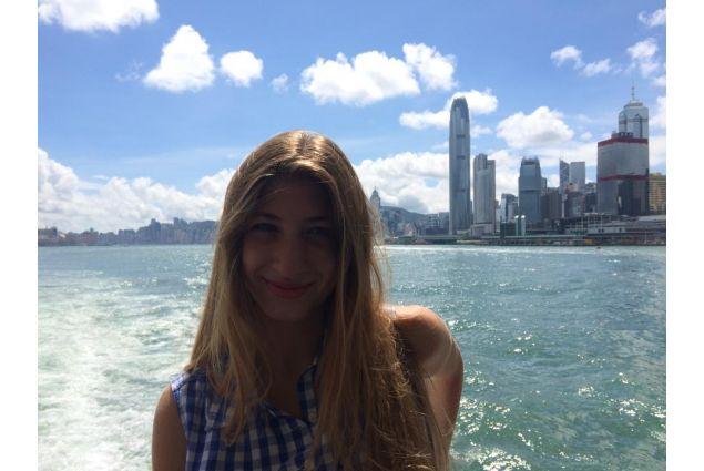 vista della baia di Hong Kong