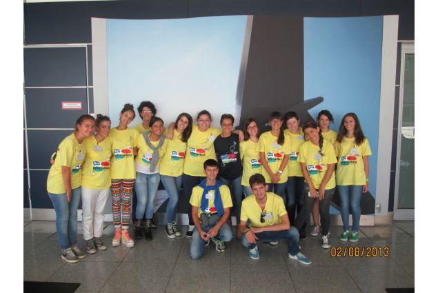 Il gruppo degli italiani, in partenza a Roma