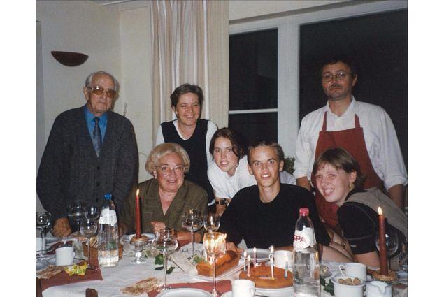 Marianna e la sua famiglia belga nel 1999