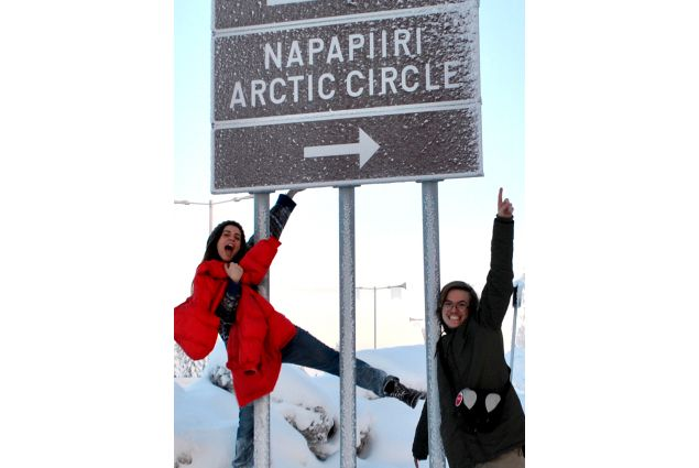 Anna e amica al circolo polare artico