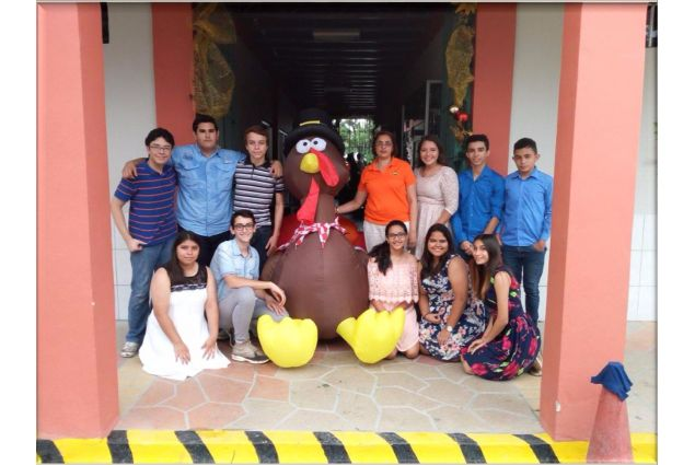 Thanksgiving a scuola, con i compagni di classe e la Preside