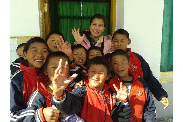 Con i bambini dello Yunnan