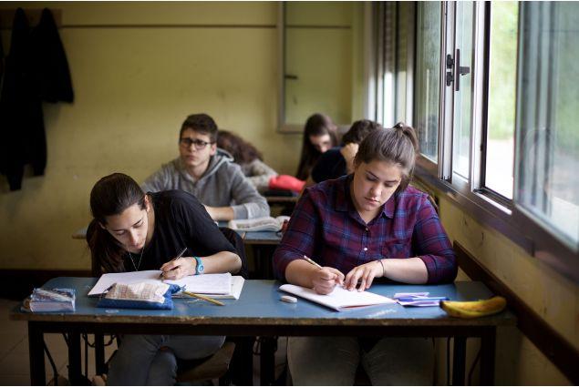 Romina e i suoi compagni a scuola