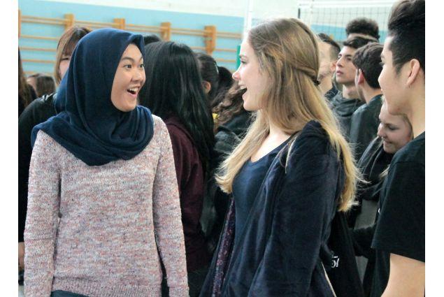 Studentesse straniere all'Istituto Olivetti