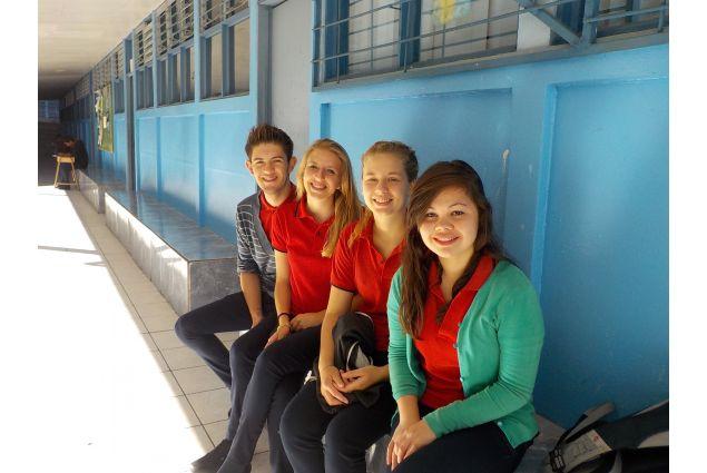 Con i compagni di scuola